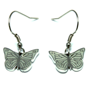 Butterfly Stainless Steel Design Earrings