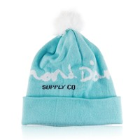 MuLuo Soft Winter Autumn Knit Cap Diamond Pattern Hip-Pop Beanie Hat Red