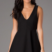 Short V-Neck Sleeveless Dress