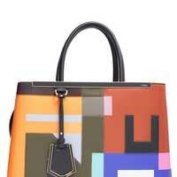 Fendi '2Jours' Leather Logo Shopper | Nordstrom