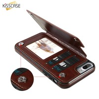 KISSCASE For Samsung S7 Edge Galaxy S8 Plus Case Wallet Leather Case  For iPhone 6 7 8 Plus Card Slot Case For iPhone X Coque