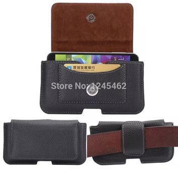 Black Leather Case Belt Clip For iPhone 8 7 6S Plus 5S SE Cover For Samsung Galaxy S8 S7 Edge Note 8 Pouch Redmi 4X Phone Case