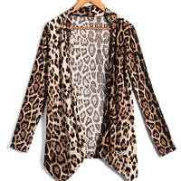 'The Felicity' Leopard Print Cardigan