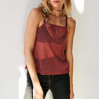 Silence + Noise Glitter Mesh Cami - Urban Outfitters
