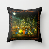"Halloween home decor pillow ""The Lesson"""