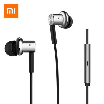 2017 Promotion Earphones  earphone original Xiaomi Mi Hybrid Earphone In-ear Stereo With Mic For Gamers Android Ios For Mp3 Pc