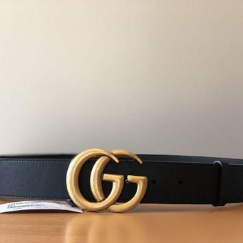 GUCCI classic double buckle belt waist F