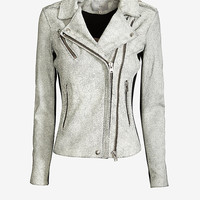 IRO ILARIA CRACKLED LEATHER JACKET