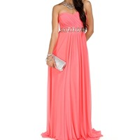 Carlie- Neon Coral Homecoming Dress