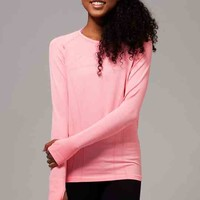 fly tech long sleeve tee*space dye | ivivva