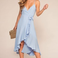 Majorca Blue Wrap Dress
