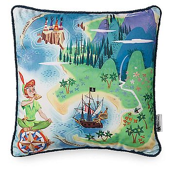 Disney Peter Pan Nerverland Pillow New With Tag