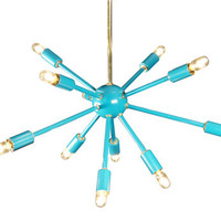 Turquoise Sputnik Chandelier Lighting by Stimulight on Etsy