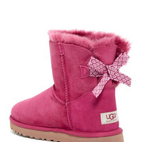Mini Bailey Bow Genuine Shearling Lined Boot