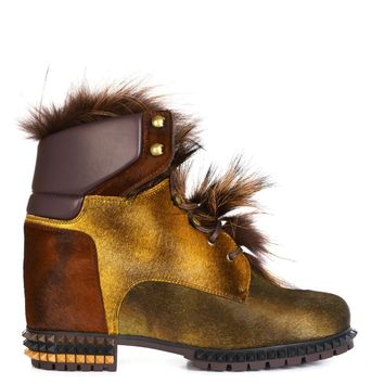 Joan fox-fur ankle boots | Fendi | MATCHESFASHION.COM