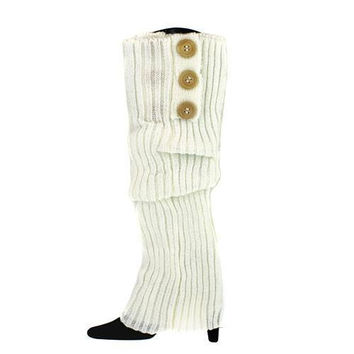 Darling Cable Knit  Leg Warmers with Big Buttons Monogramming available!