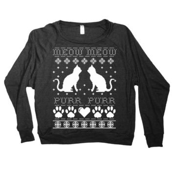 Cat Ugly Christmas Sweater-Follow me and enjoy!