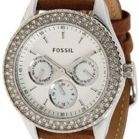Fossil Women's ES2996 Stella Tan Leather Watch: Watches: Amazon.com