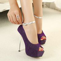 Waterproof Stylish High Heel Water Proof Fashion Peep Toe Sandals = 4814753028