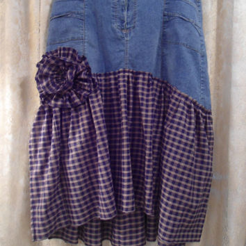 Plus Size Southwest Boho Women's Clothing Size W Upcycled Women Denim