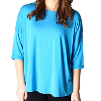 Dazzling Blue Piko Loose Sleeve Top