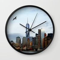 New York Wall Clock by Haroulita | Society6