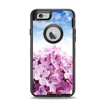 The Blue Sky Pink Flower Field Apple iPhone 6 Otterbox Defender Case Skin Set
