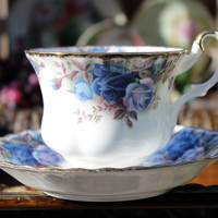 Royal Albert Moonlight Rose Tea Cup and Saucer - English Bone China 11784