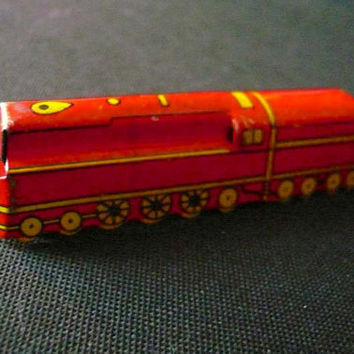 Vintage Cracker Jack Prize Train Tin Lithograph Toy Collectible