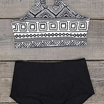 Cupshe Daisy Does It High-waisted Bikini Set