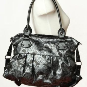 Iron Fist Sweet Sugar Skull O Mine Metallic Handbag Purse