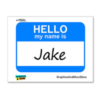 Jake Hello My Name Is Sticker