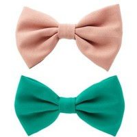 Crepe Chiffon Hair Bows - 2 Pack by Charlotte Russe - Multi