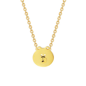 "Teddy Bear Choker Charm Chain 14k Gold Finish Stainless Steel 0.4"" Dainty Necklace"