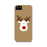 Iconic Reindeer iPhone 5 Case, iPhone 4, iPhone 4S, Samsung Galaxy S4, iPhone5 Case, iPhone Cover, White Red & Brown Christmas Phone Case