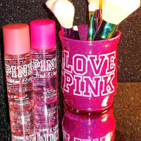 VS Love Pink Makeup Brush Holder - YOU CUSTOMIZE!