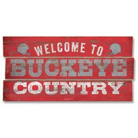 Legacy Athletic Ohio State Buckeyes ''Country'' Plank Sign (Green)
