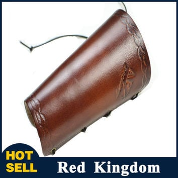 New Traditional Cow Leather Arm Restraint Protector Guard pull Bow protect Arm for Shooting Barcer Hunting Archery Accessory