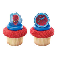Spiderman Movie Cupcake Rings
