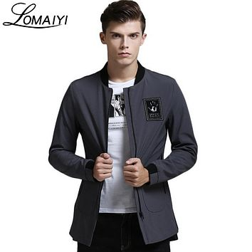 LOMAIYI Brand Mens Trench Coat Men 2017 Autumn Fashion Mid Long Jacket Male Army Green Overcoat Cape Men's Windbreakers,BM088