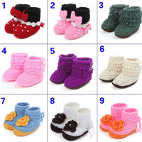 Newborn Baby boy Girls Knit Crochet boot Shoes Soft warm Crib Casual prewalkers = 1958094276
