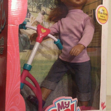 "Doll My Girl Large 18"" Doll with Scooter & Accessories New in package"
