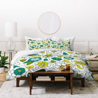 Heather Dutton Tropical Bloom Duvet Cover