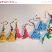 On Sale Ariel Sleeping Beauty Princess Aurora Belle Earrings Disney