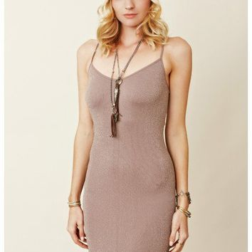 Free People - Seamless Lurex Jersey Slip