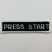 "Retro Video Game ""Press Start"" - Iron-on Patch"