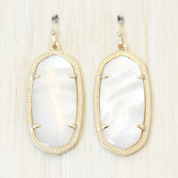 Kendra Scott Elle Earrings - Ivory Mother of Pearl