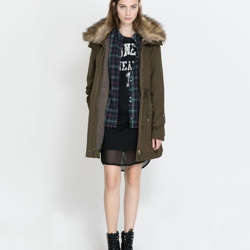 PARKA WITH FUR COLLAR - Coats - TRF | ZARA Canada