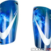 Nike CR7 Mercurial Lite Shin Guards - Navy with Silver - SoccerPro.com
