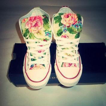 new years sale spring floral converse shoes